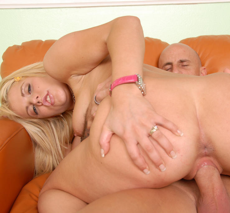 Cock bouncing blonde model