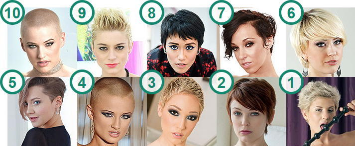 TOP 10 hottest pornstars and camgirls with Short Hairstyles