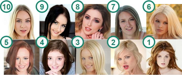 TOP 10 hottest Pale white skin porn stars