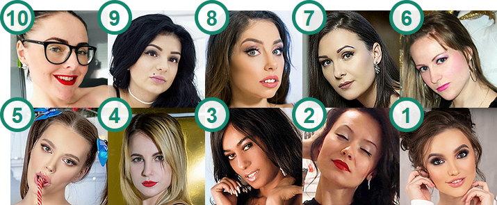 TOP 10 most popular British Camgirls