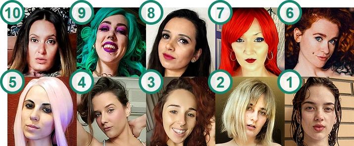 TOP 10 most popular Australian webcam girls