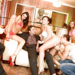 New full scene released: Bikini models orgy