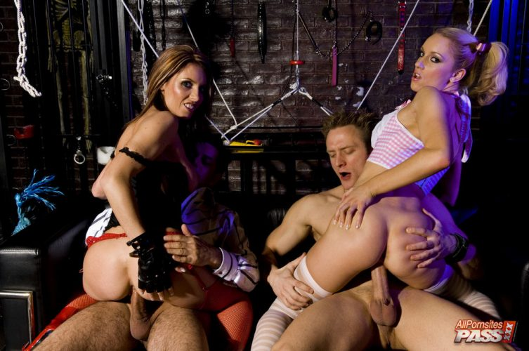 New full scene released: Orgy in a shop
